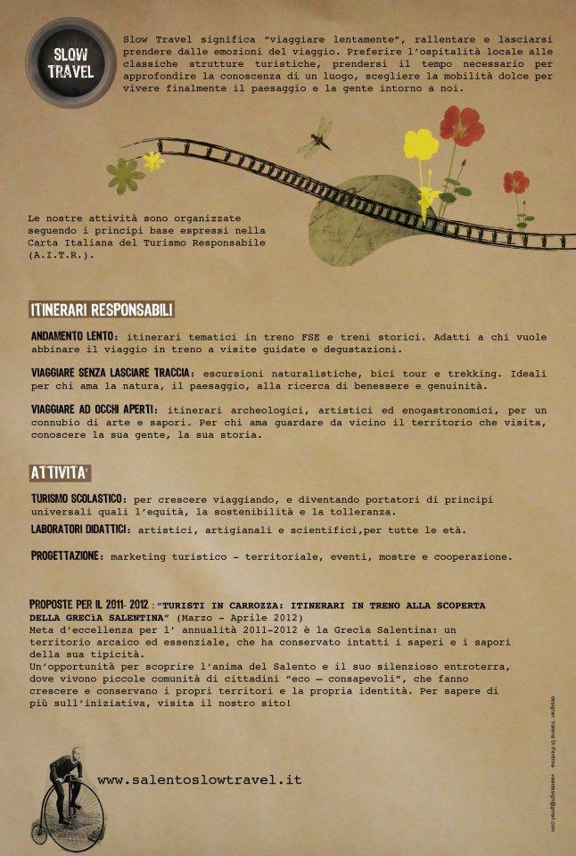 Itinerari Turisti in Carrozza 2012